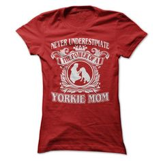 Cool Yorkie Mom T Shirts, Hoodies. Check price ==► https://www.sunfrog.com/Pets/Cool-Yorkie-Mom-Ladies.html?41382
