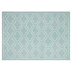 Safavieh Dhurries Quatrefoil Handwoven Flatweave Wool Rug, Blue