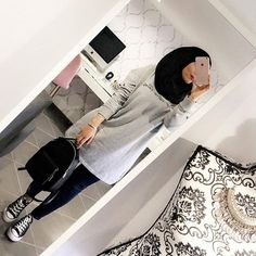 ɪᴛ's ᴛʜᴇ ʟɪᴛᴛʟᴇ ᴛʜɪɴɢs ᴛʜᴀᴛ ᴍᴀᴛᴛᴇʀ - Another! Hijab Casual, Modest Fashion Hijab, Modern Hijab Fashion, Street Hijab Fashion, Tokyo Street Fashion, Arab Fashion, Islamic Fashion, Hijab Chic, Muslim Fashion