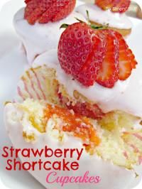 Six Sisters Strawberry Shortcake Cupcakes Recipe. When we have these delicious cupcakes we know spring is almost here!
