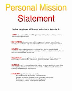 Pin On Personal Mission Statement Maker