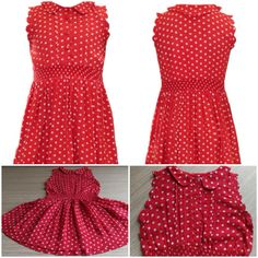 Ex NEXT girls red and white polka dot summer dress top sleeveless  Sizes 3months-5years £6.99