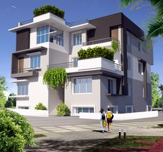 Triplex (3 floors) home.Click on this link (http://www.apnaghar.co.in/pre-design-house-plan-ag-page-63.aspx) to view free floor plans (naksha) and other specifications for this design. You may be asked to signup and login. Website: www.apnaghar.co.in, Toll-Free No.- 1800-102-9440, Email: support@apnaghar.co.in