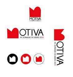 Propuesta logo para las jornadas de diseño MOTIVA en la escuela de arte de Oviedo