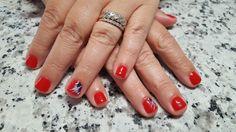 Celebrating Independence Day  Gel nails by Kayln Crismon