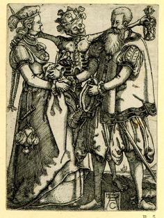 The Dance of Death. Print made by Allaert Claesz, 1562.