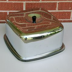 Cake Plate with Aluminum Cover by tracinicole on Etsy, $29.00