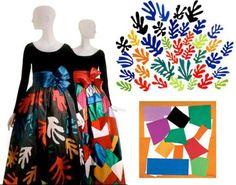 Mode et Art - Yves Saint-Laurent - Matisse - L'escargot et La Gerbe - 1953