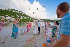 Beach Ball Toss // Nautical Wedding // @Windjammer Landing #destinationwedding #windjammer #wedding  #nauticalwedding