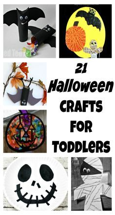 Halloween crafts for toddlers and preschoolers to make.
