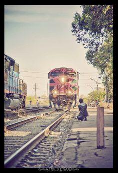 Tren en Lagos de Moreno Jalisco, México