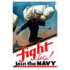 Digitally restored vector war propaganda poster. F Poster