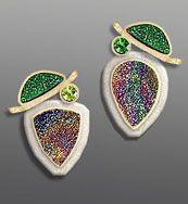 uvarovite drusy earrings