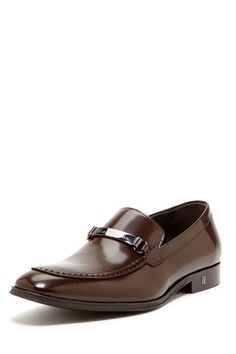 Metal Bit Leather Dress Loafer by Versace Mens Shoes on @HauteLook