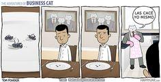 Gato empresario: de caza