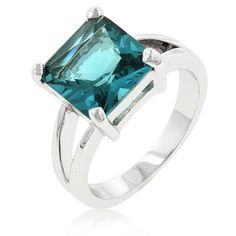 Aquamarine 18K White Gold Ring, starting at $5 in today's Jewelry auction. Room is open now, #happybidding!