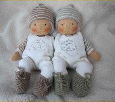 Twins Luna and Lucienne Sock Animals, Waldorf Toys, Doll Maker, Amigurumi Toys, Soft Dolls, Fabric Dolls, Doll Accessories, Doll Patterns, Beautiful Dolls