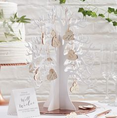 This beautiful Wishing Tree is the perfect alternative guest book for your special wedding day The beautiful white wooden tree comes with 70 blank Wooden Wedding Guest Book, Wedding Guest Looks, Wedding Book, Wedding Ideas, Country Wedding Invitations, Wedding Favours, Wishing Tree Wedding, Wishing Trees, Guest Book Tree