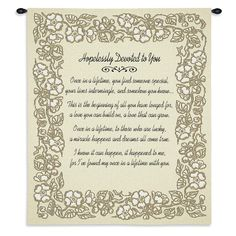 Hopelessly Devoted To You Art Tapestry Wall Hanging, Gold Anniversary