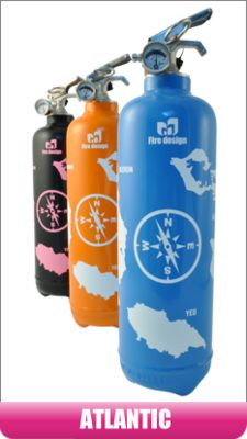 French designed fire-extinguisher Fire Extinguisher, Water Bottle, Deco, French, Design, Products, French People, Deko