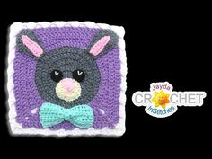 Bunny Rabbit Blanket Square - Crochet Motif - April - Jayda InStitches tutorial on YouTube