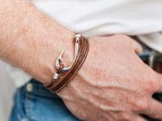 """Armband """"Hook"""" aus Leder für Mann Freund Geschenk  von Oh Bracelet Berlin - Armbänder, Ketten und Ringe auf DaWanda.com"""
