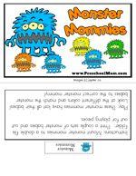 Silly Monster Preschool Printables (free; from PreschoolMom.com)