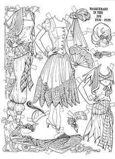 Paper dolls - more @ link - but I liked playing with the ones my mom made best.