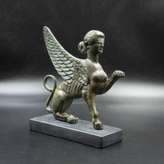 Excited to share the latest addition to my #etsy shop: Ancient Greece Mythical Creature Sphinx Bronze Statue, Metal Art Sculpture, Museum Replica, Greek Mythology, Collectible Art, Home Decor Sculpture Museum, Metal Art Sculpture, Lion Sculpture, Greek Jewelry, Greek Mythology, Ancient Greece, Mythical Creatures, Bronze, Statue