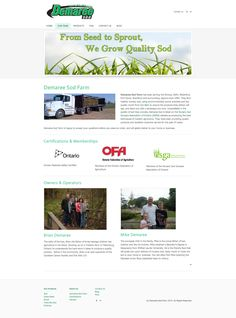 Demaree Sod About page, I wanted to add a personal touch to their website and give their customers some background information about them.