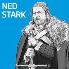Ailesi için her şeyini feda edebilecek bir baba; Ned Stark #babalargünü #fathersday #GoT #GameofThrones #NedStark