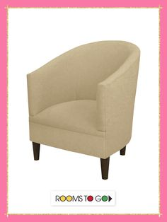 Create a sleek and sophisticated look in your room with the Vallie Chair.