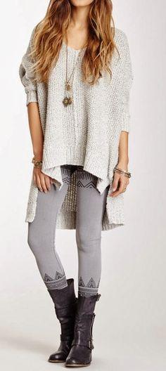 Sweater, Leggings, Long Shoes & Jewelry ~ Fashion Frenzy