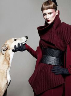 Haider Ackermann A/W 2012/13. Photographed by Daniel Jackson for Vogue UK, August 2012.