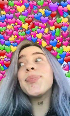 Billie eilish // heart meme ee nel 2019 memes apaixonados, m Billie Eilish, Cover Art, Party Make-up, Videos Instagram, Heart Meme, Album Cover, Falling For Someone, Cute Love Memes, Wholesome Memes