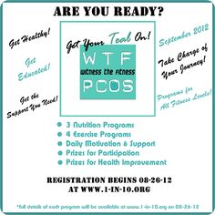 Sign Up for the #1in10 30 Day Challenge!  Get healthy and  #raiseyourvoice for #PCOS this September!  www.1-in-10.org