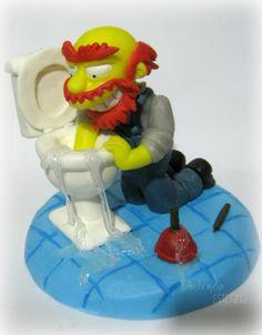 simpsons en porcelana fria