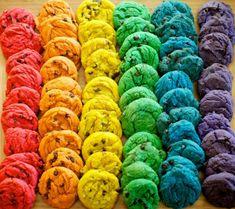 A Gorgeous Rainbow First Birthday Party Rainbow Food, Rainbow Theme, Rainbow Colors, Rainbow First Birthday, First Birthday Parties, First Birthdays, Macarons, Rainbow Aesthetic, Over The Rainbow