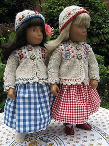 """Best Friends"" Hand Knitted Sweater Set and Skirt by Heidi for Your Sasha Doll 