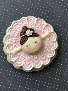 And, She dances! Fondant Cookies, Cupcakes, Iced Cookies, Royal Icing Cookies, Cupcake Cookies, Sugar Cookies, Cookies For Kids, Cute Cookies, Iced Biscuits
