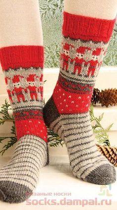 Jacquard socks «Dancing Elves»