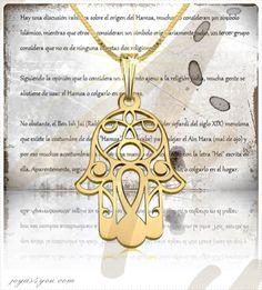 """Rabbi Iosef Jaim de Bagdad, líder sefardí del siglo XIX mencionaba la costumbre de usar """"Hamsa"""" para alejar el Ain Hara (mal de ojo) y por eso muchos acostumbran a colgar una manita de cinco dedos. Nuestros joyeros creativos han creado este elegante collar en Oro de 14K.. Si estás pensando en un presente especial para obsequiar a alguien en su gran día, este complemento representará un éxito total…"""