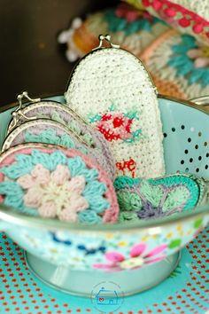 niebieska chata: Wyniki Candy :) .... Crochet Coin Purse