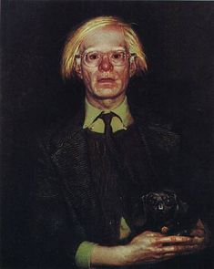 Portrait of Andy Warhol, 1976  Jamie Wyeth - by style - Contemporary Realism