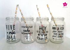 Vaso Personalizado, Frases, Tragos, Frascos Drinks - $ 55,00 Diy Tumblr, Happy Party, Ideias Diy, Personalized Wine, Ideas Para Fiestas, Cricut Vinyl, Mason Jars, Diy And Crafts, Great Gifts