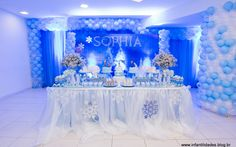decoraçaõ de festa frozen - Pesquisa Google