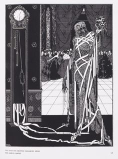 Harry Clarke  The Dagger Dropped Gleaming Upon the Sable Carpet From The Masque of the Red Death by Edgar Allan Poe
