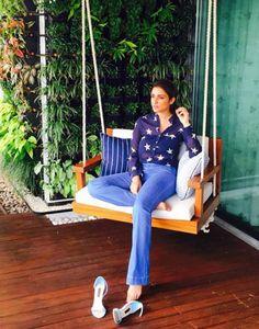 Inside pictures: A sneak peek into Bollywood stars' lavish homes Home Room Design, Interior Design Living Room, House Design, Home Swing, Porch Swing, Balcony Swing, Indoor Swing, Small Balcony Decor, Balcony Design