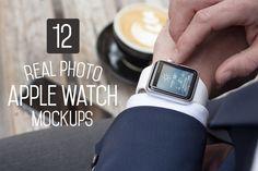 12 Apple Watch Mockups by ZedProMedia on Creative Market