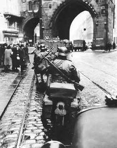 Germans occupy Prague, 15.03.1939 this is why my father, born in Czechoslovakia, then living safely as a Canadian citizen, entered the war. He wanted to rescue those now threatened by Hitler's aim to destroy those not Aryan. We should never push aside those efforts and sacrifices although so long ago. Do we forget our freedom? Do we forget our rights? No. We must never forget.